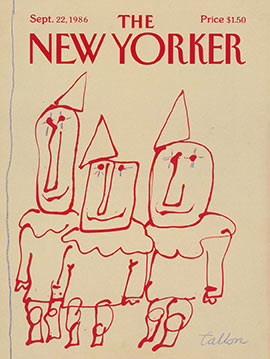 New Yorker Cover 1986
